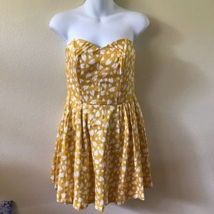 MATERIAL GIRL YELLOW STRAPLESS SUN SUMMER DRESS